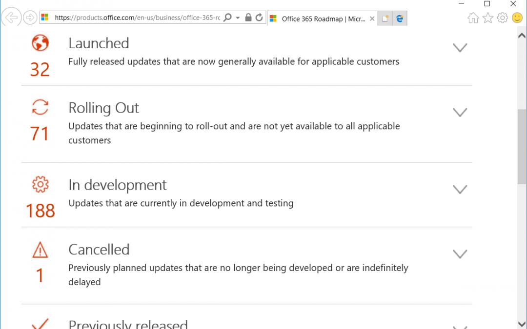 Hoe blijf ik alle toekomstige wijzigingen in Office 365 de baas?