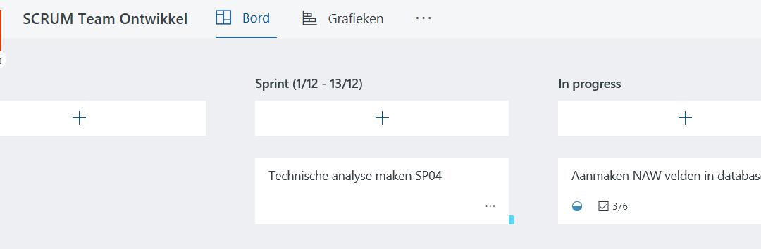 SCRUM in Microsoft Planner voor Office 365