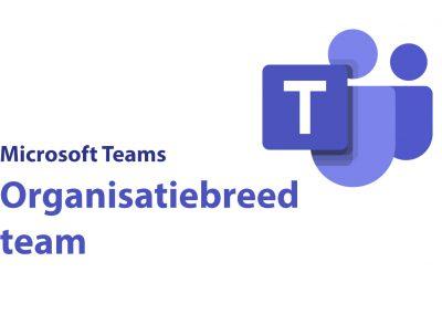 Teams: Een organisatiebreed team; het wat en hoe