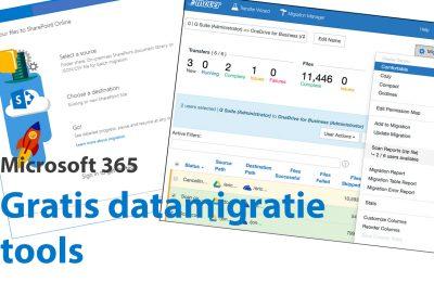 Data migreren van of naar OneDrive & SharePoint? Gratis tools van Microsoft