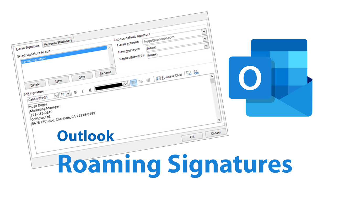 Outlook Roaming Signatures