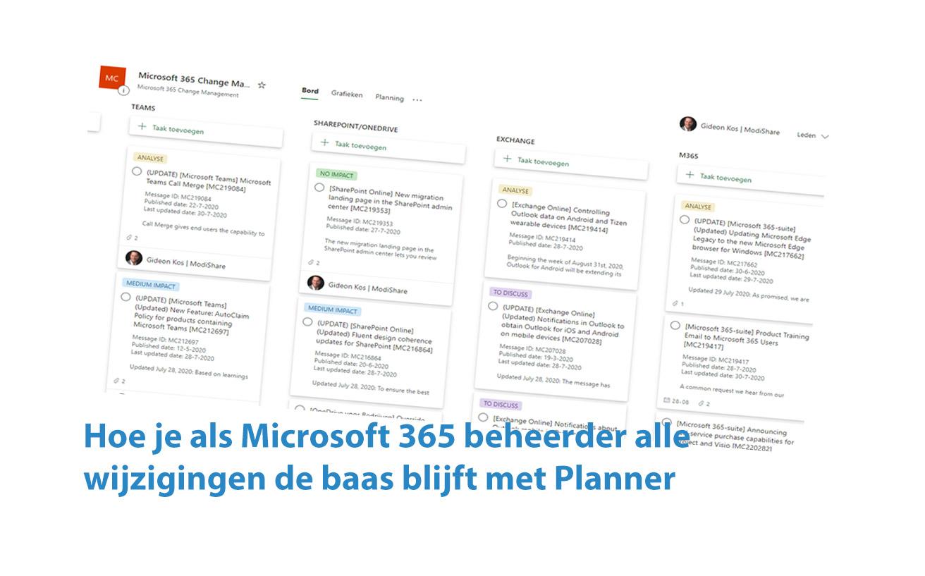 Microsoft 365 Change Management met Planner