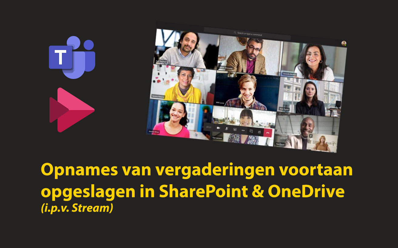 Teams vergaderingsopnamen voortaan opgeslagen in SharePoint en OneDrive