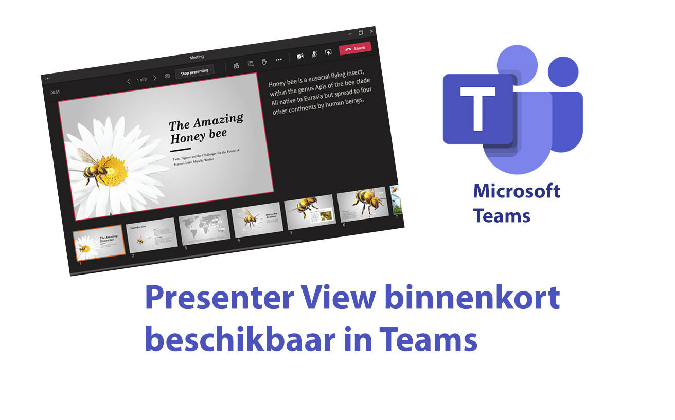 Presenter View in Teams beschikbaar