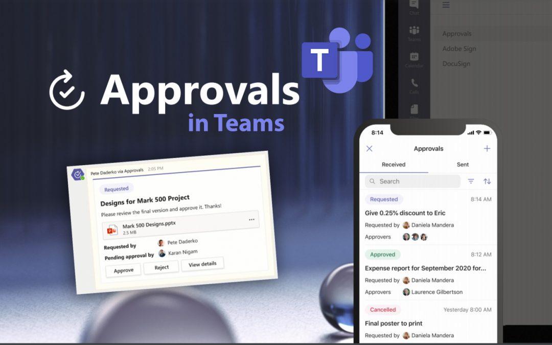 Approvals in Teams: Beheer goedkeuringsworkflows op centrale plek