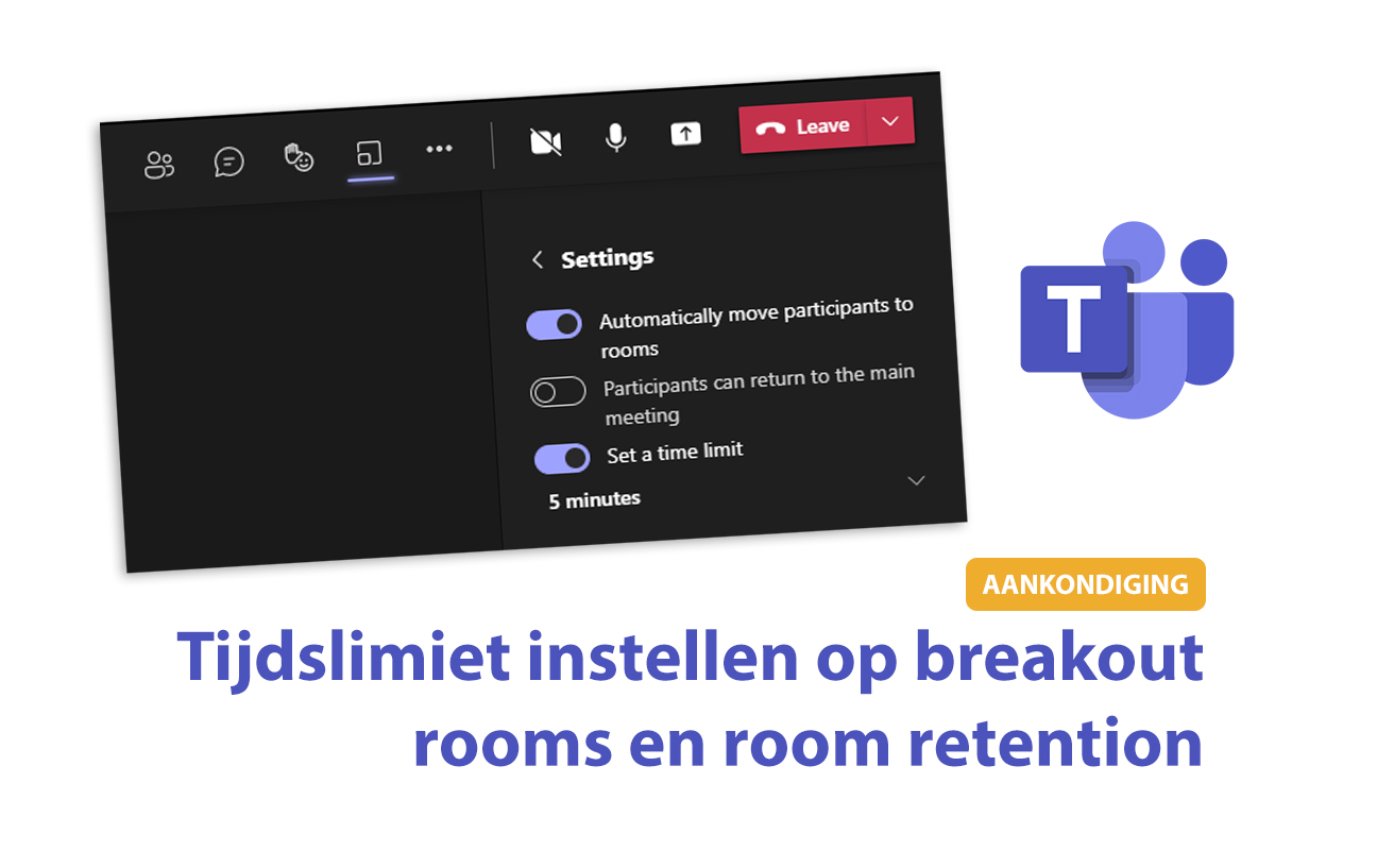 Tijdslimiet instellen op breakout rooms