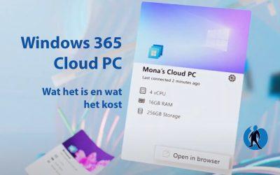 Windows 365 Cloud PC: wat het is en wat het kost
