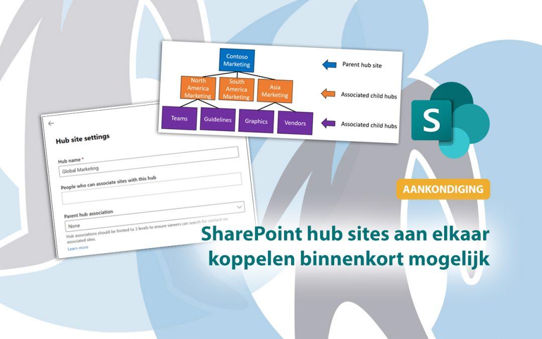 Een SharePoint hub site koppelen aan een andere hub site binnenkort mogelijk